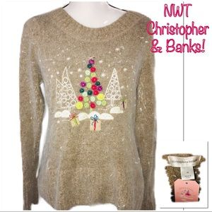 • CHRISTOPHER & BANKS | NWT | Xmas Sweater •